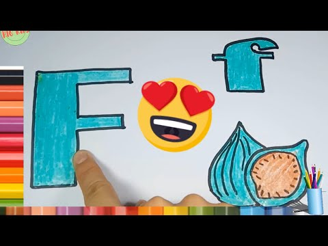 Draw and color letter F with Rio kids🎨Learn simple alphabet💖Rio Kids