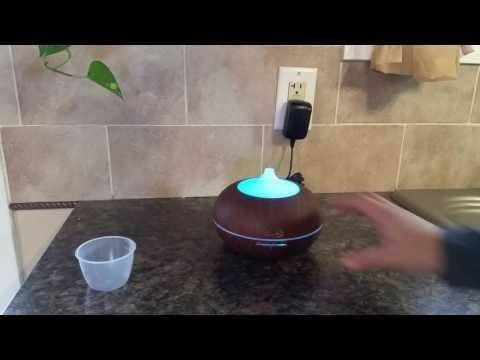 Misyo 300ml Wood Grain Ultrasonic Oil Diffuser