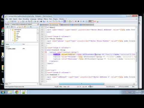 Learn How to Create an Address Book Using PHP and MySQL - Part 5
