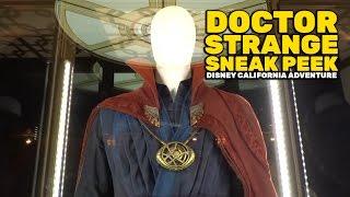 Doctor Strange sneak peek entrance and costume display at Disney California Adventure