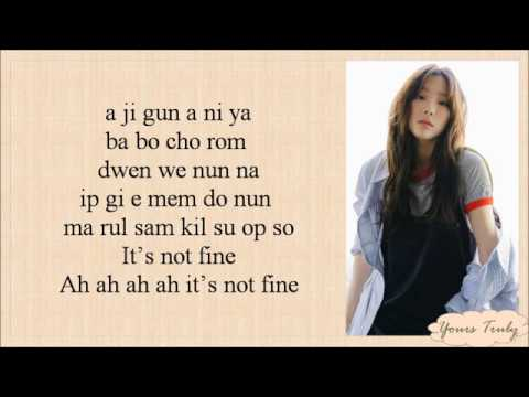 TAEYEON 태연  FINE Easy Lyrics