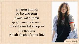 TAEYEON 태연 - FINE [Easy Lyrics]