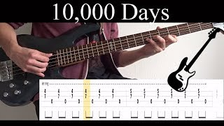 10,000 Days Wings Pt.2 Tool - BASS ONLY Bass Cover With Tabs