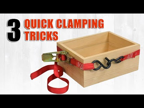 3 Quick Clamping Tricks for Woodworking Clamps