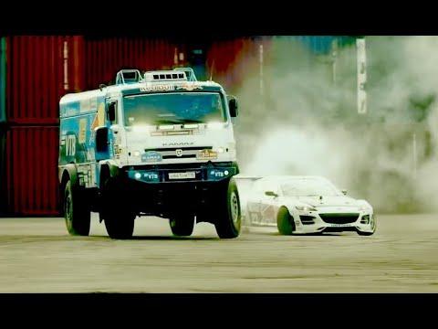 КАМАЗ и Mazda — парный дрифт Эдуарда Николаева с Мэд Майком Уидеттом