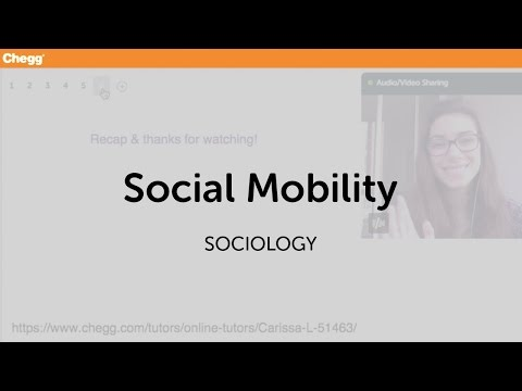 Social Mobility | Sociology | Chegg Tutors