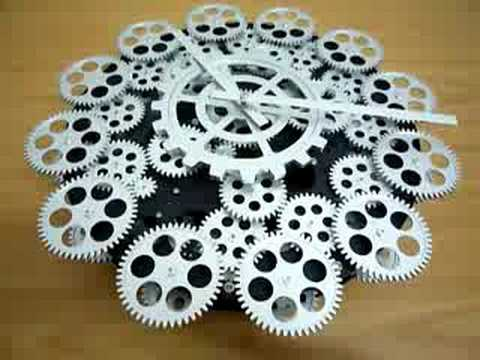 16 Quot Jumbo Mechanical Gear Wall Clock By Homeloo Com Youtube