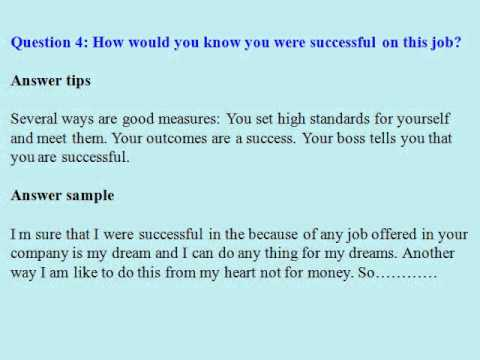 Housekeeper Interview Questions And Answers  Youtube