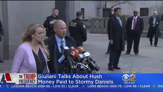 Trump Denies Paying Stormy Daniels With Campaign Funds