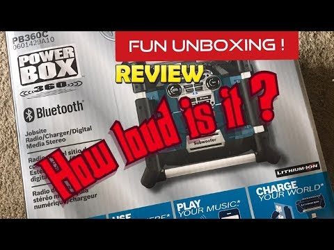 Bosch Power box 360 with Bluetooth Unboxing and review
