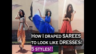 Download How to wear a SAREE as a DRESS | 5 Ways | PinkPepperCorn Mp3 and Videos