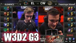 Elements vs Copenhagen Wolves | S5 EU LCS Summer 2015 Week 3 Day 2 | EL vs CW W3D2 G3 Round 1