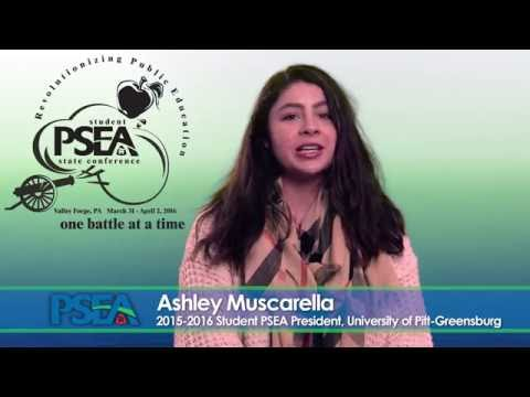 Video message from Student PSEA President Ashley Muscarella: Student PSEA Conference 2016