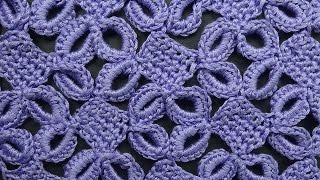 Ажурный узор с кольцами Узоры вязания крючком crochet pattern free 77