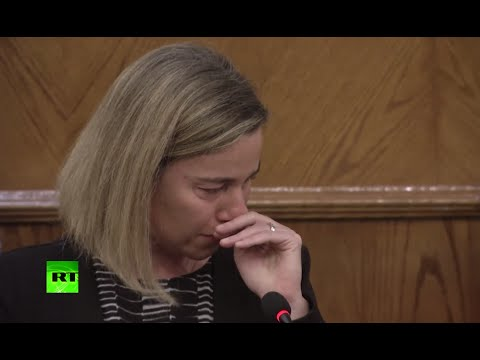 Mogherini breaks down during emotional conference following Brussels attacks