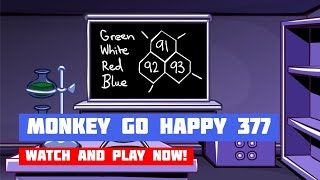 Monkey GO Happy: Stage 377 — Chemical Laboratory · Game · Walkthrough