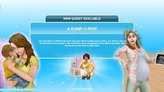 Simsfreeplay - A Bump-Y Ride Quest ( Discovery Quest ) Pregnancy Up...