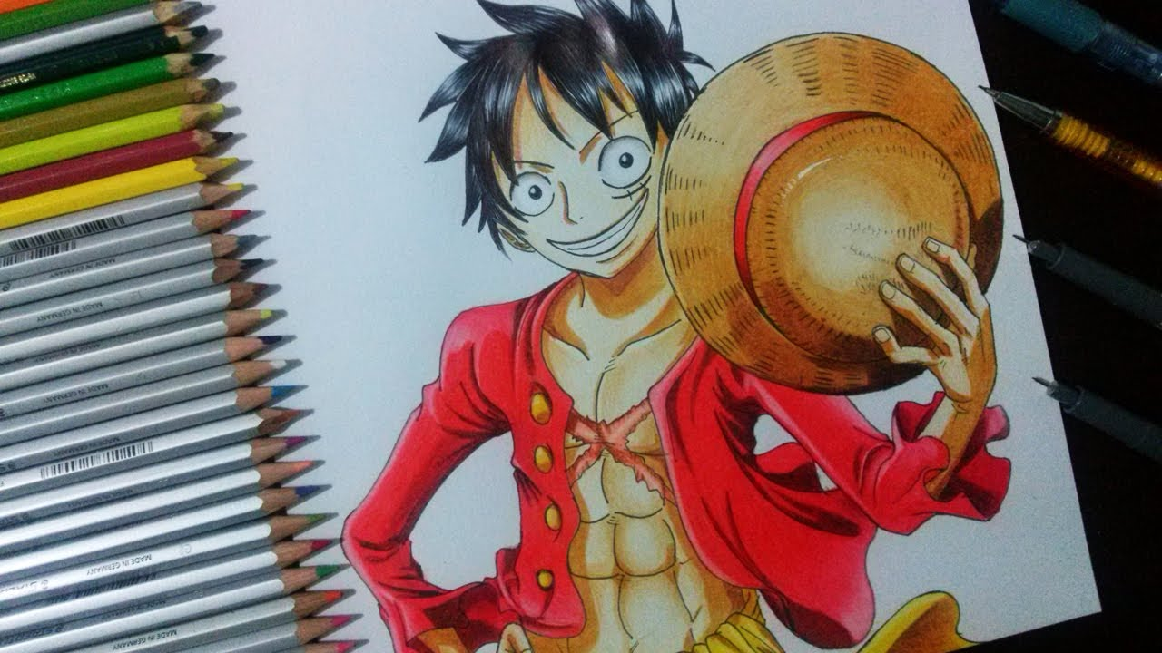 colorir monkey d luffy one piece how to draw and coloring
