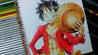 Como desenhar e colorir Monkey D. Luffy - One Piece (How to Draw and Coloring Luffy - One Piece)