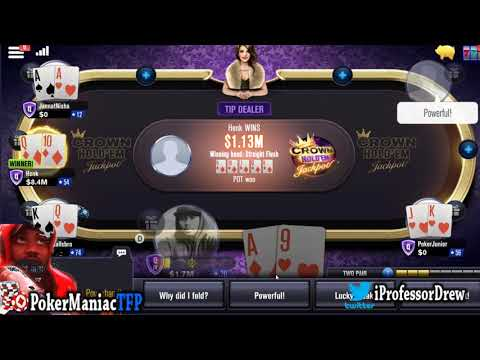 WSOP APP: Crown Hold Em Poker  ROYAL FLUSH / STRAIGHT FLUSHES ON TABLE