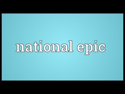 National epic Meaning