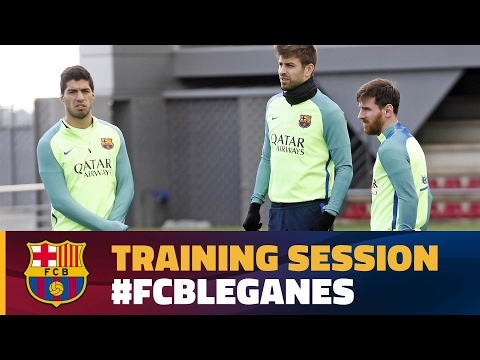 FC Barcelona training session: Recovery session as focus turns to league