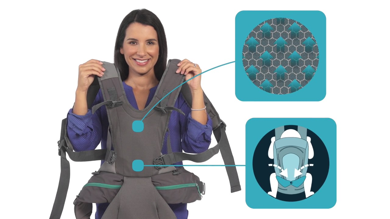 Infantino Carry On Multi-Pocket Baby Carrier Demo - YouTube 1eb23e79653