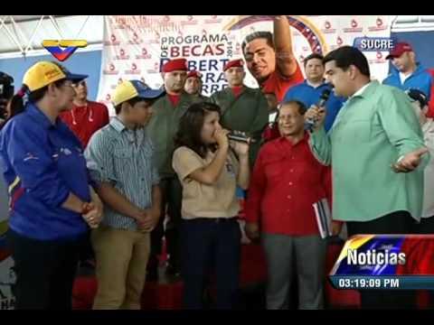 Grupo Expresión Universitaria interpreta canciones de Alí Primera con Maduro en Cumaná