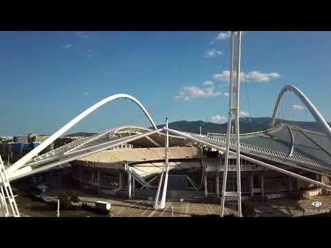 Olympic Stadium - Athens, GREECE. Drone footage.