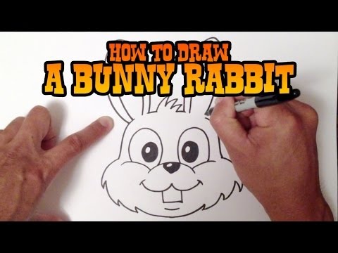 How to Draw a Bunny Rabbit - Step by Step Video