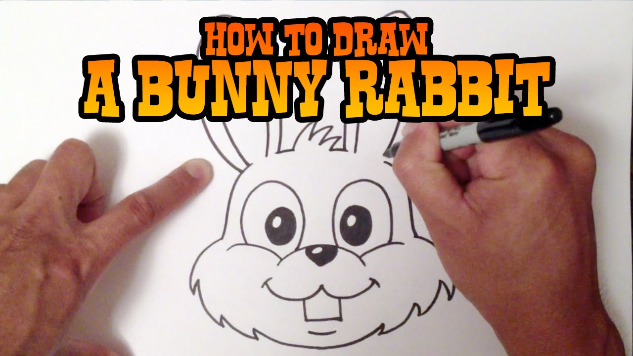 How to Draw a Bunny Rabbit - Step by Step Video - YouTube