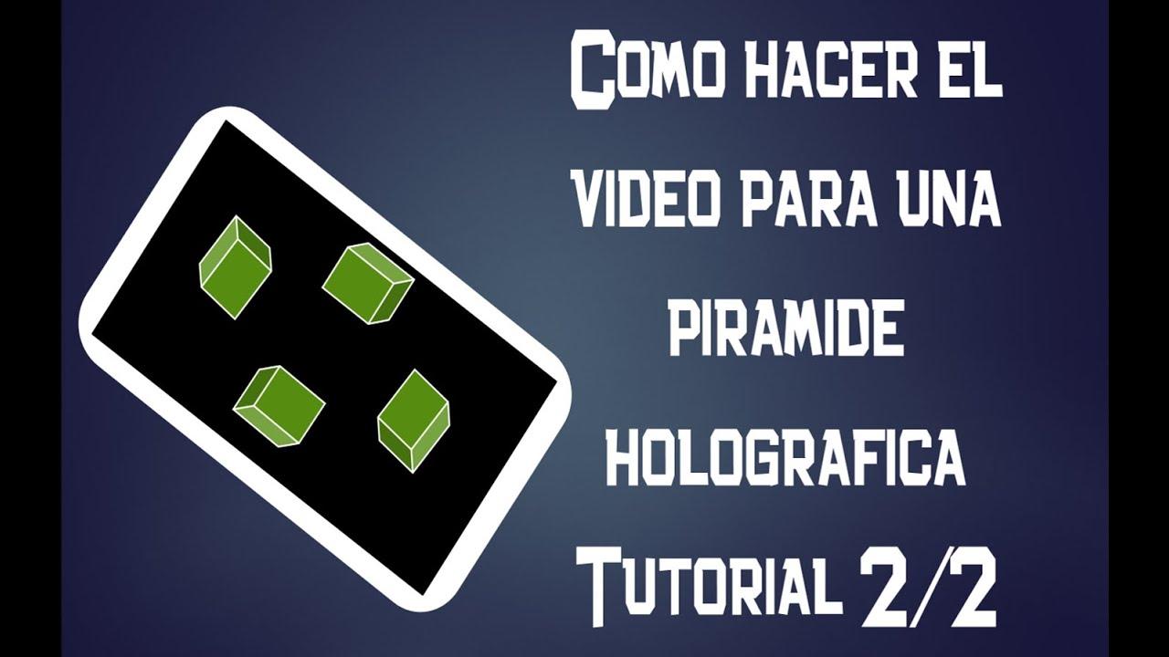 Como Hacer El Video Para Una Pirámide Holográfica Gaming Logos Cube Youtube