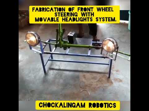 Download FABRICATION OF FRONT WHEEL STEERING WITH MOVABLE HEADLIGHTS CONTROL