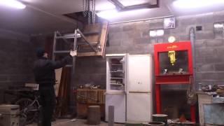 Раскладная чердачная лестница с люком(, 2016-01-04T19:59:02.000Z)