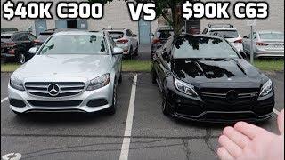 Is it worth $50K MORE!? 2018 Mercedes AMG C63s VS 2018 Mercedes C300