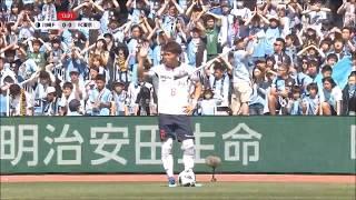 FKのチャンスからゴール前に供給されたボールを橋本 拳人(FC東京)が流...