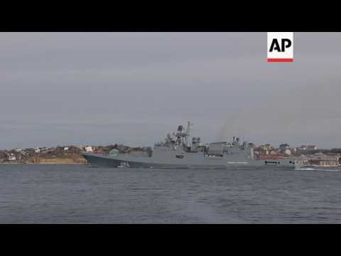 Russia ship leaves Crimea port for Mediterranean
