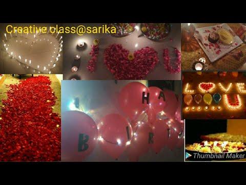 Romantic #birthday #surprise #roomdecoration ideas for husband