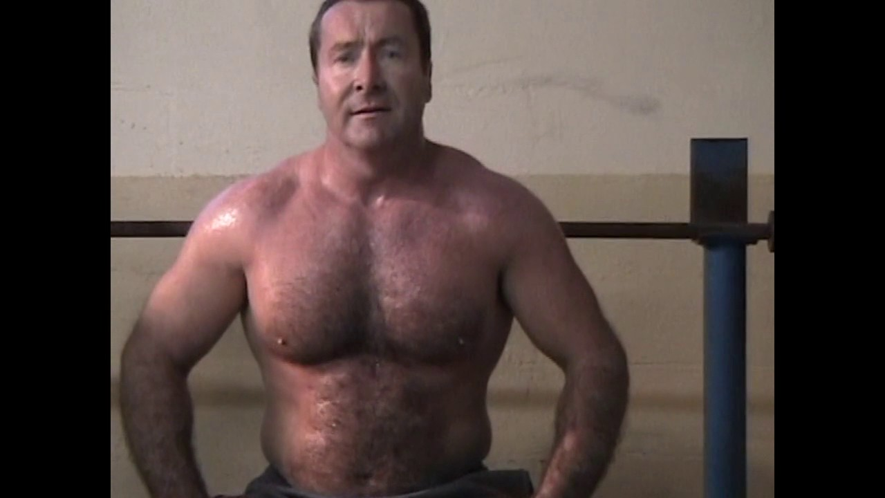 Hairy muscle bear video