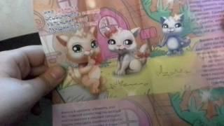 Открываем 4 пакетика Маджики котята