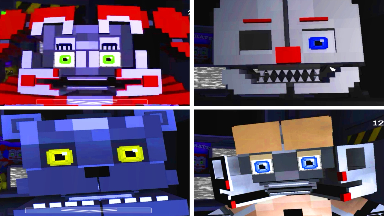 All Minecraft Jumpscares | Five Nights at Freddy's: Sister Location