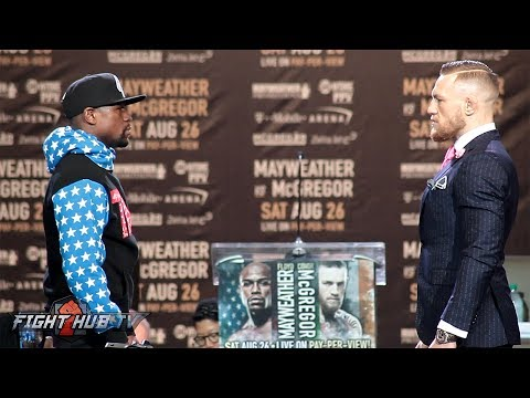Thumbnail: WORLDS COLLIDE! FLOYD MAYWEATHER VS. CONOR MCGREGOR FULL FACE OFF VIDEO