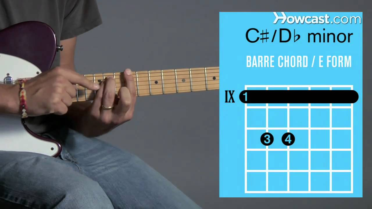 How To Play C D Minor Barre Chord Guitar Lessons Youtube