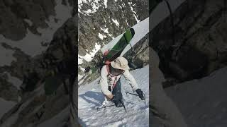 Variant Steep Snow Climbing