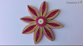 How to Make Quilling Flower / Tutorial