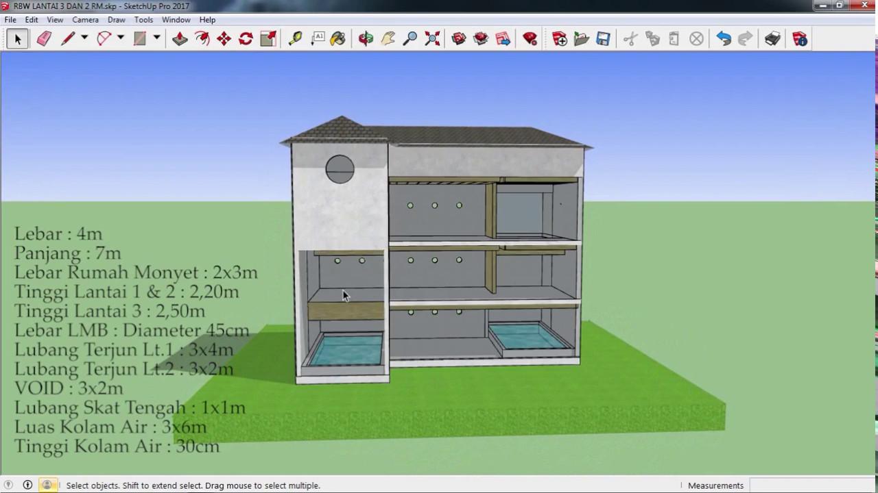 Desain Gedung Walet RBW 4x7 3 Lantai Dan 2 Rumah Monyet YouTube