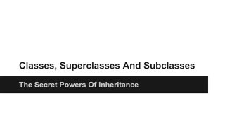 JAVA Programming Tutorials - How to use Classes, Superclasses And Subclasses in JAVA - 16