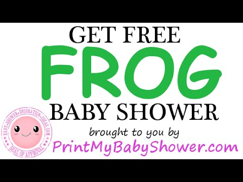 Frog Baby Shower Decorations Games Invitations YouTube