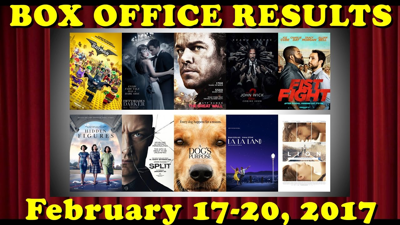 Box office results top 10 movies february 17 20 2017 - Movie box office results this weekend ...