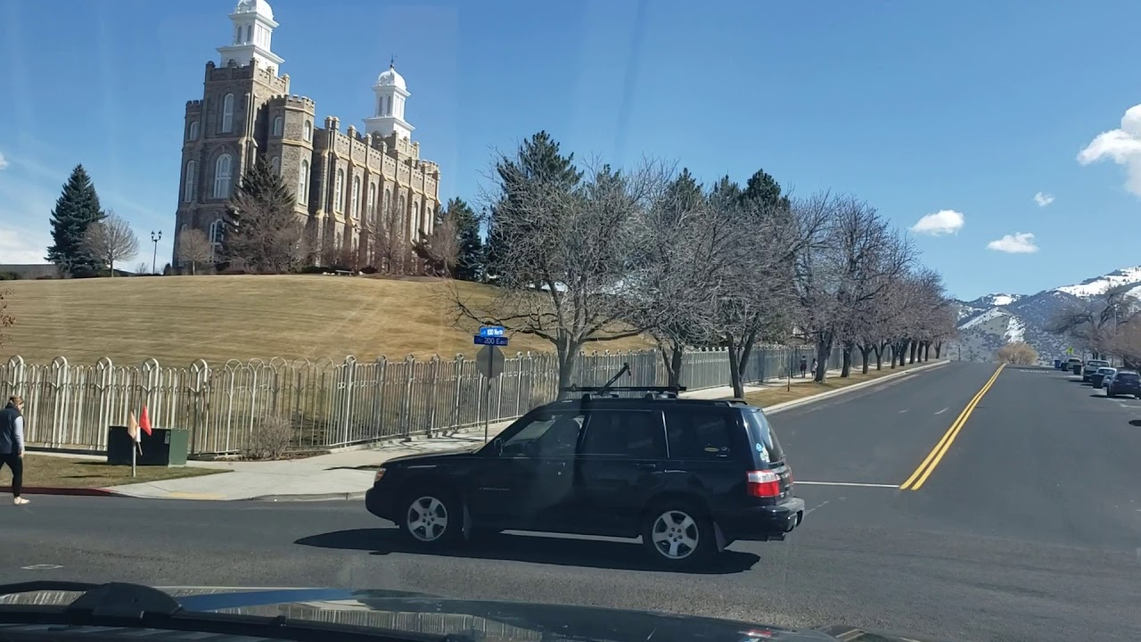 Tour of Downtown Logan Utah, in Cache Valley Home of Utah State University!